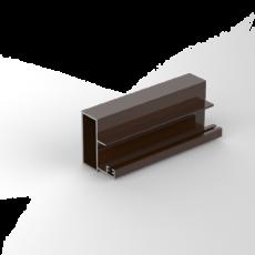 профиль торцевой коричневый