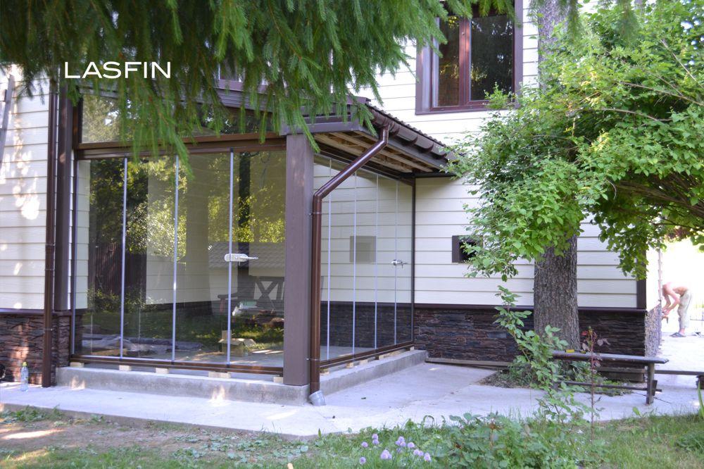 стеклянная терраса пристроенная к дому