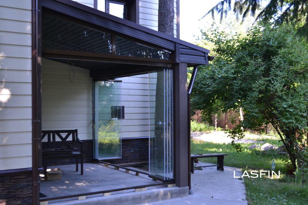 раздвижные стеклянные двери для веранды террасы